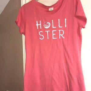 Coral/Pink Hollister T-shirt